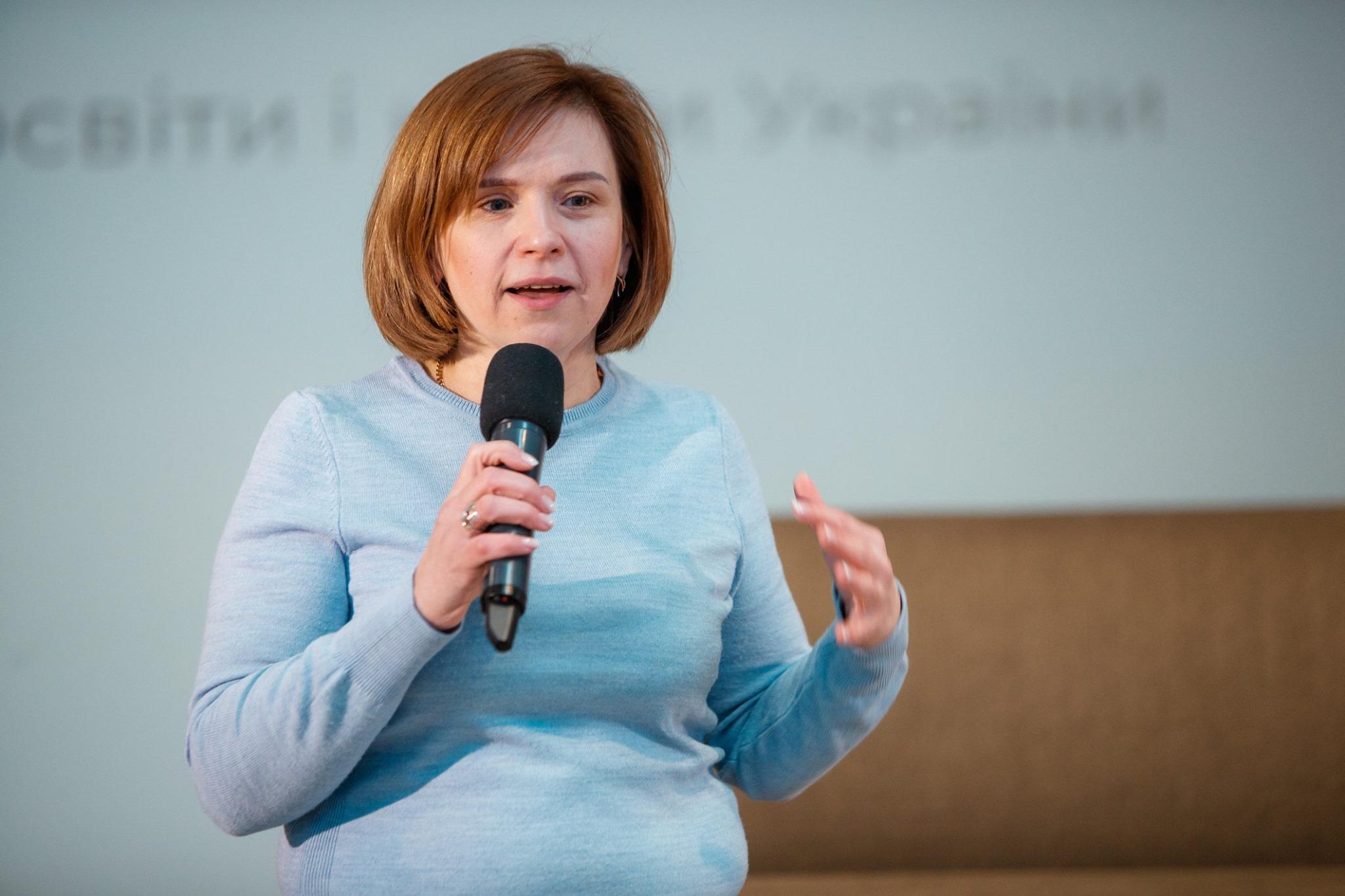 Любомира Мандзій, заступниця міністраосвіти і науки України